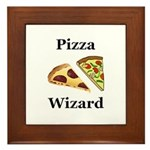 Pizza Wizard Framed Tile