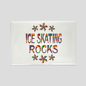 Ice Skating Rocks Rectangle Magnet