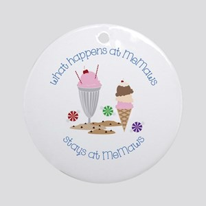 Stays at MeMaws Ornament (Round)