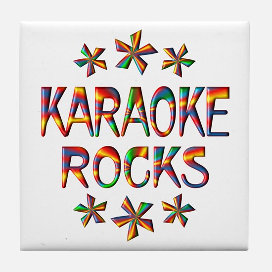 Karaoke Rocks Tile Coaster