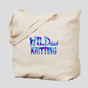 Wild About Knitting Tote Bag