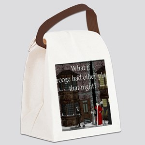 What if Scrooge front Canvas Lunch Bag