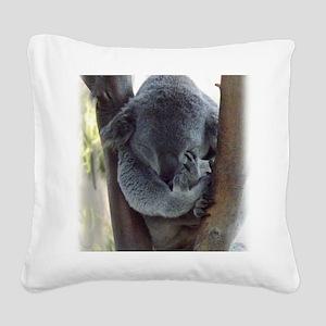 Koala sleeping Square Canvas Pillow