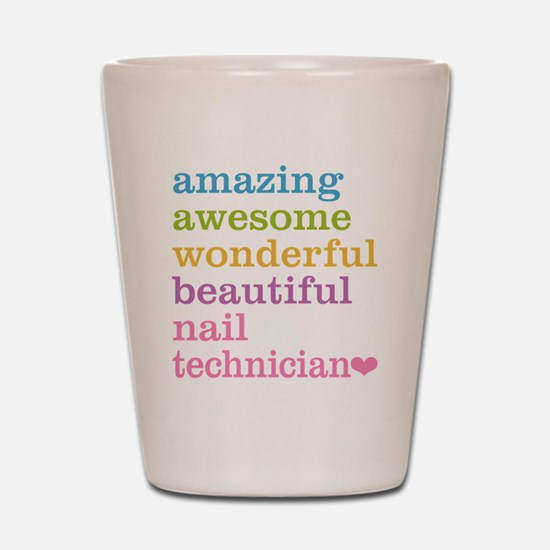 Nail Technician Shot Glass