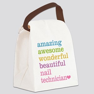 Nail Technician Canvas Lunch Bag