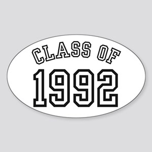 Class of 1992 Oval Sticker