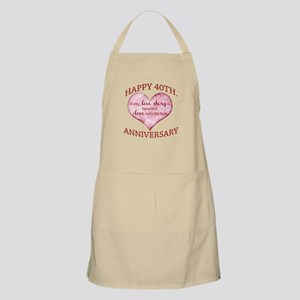 40th. Anniversary Apron