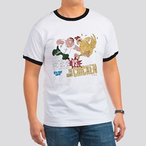 Family Guy Peter vs. The Giant Chicken Ringer T
