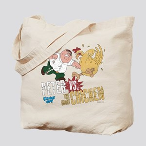 Family Guy Peter vs. The Giant Chicken Tote Bag