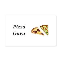 Pizza Guru Car Magnet 20 x 12