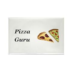 Pizza Guru Rectangle Magnet (10 pack)