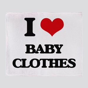 I Love Baby Clothes Throw Blanket