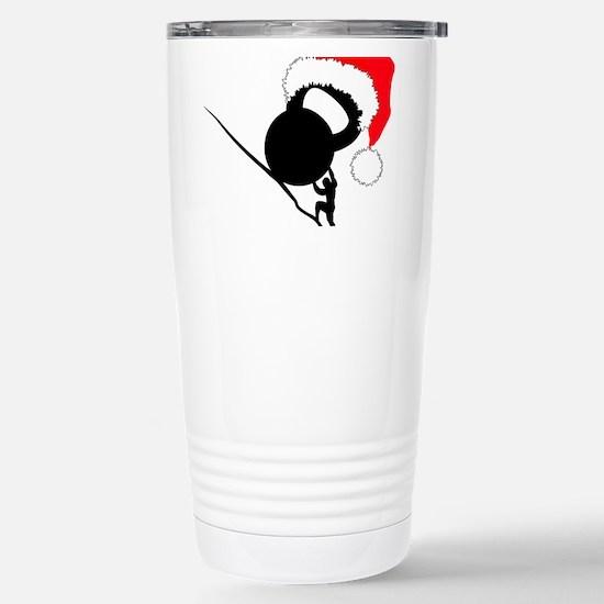 Sisyphus Kettlebell Christmas Travel Mug
