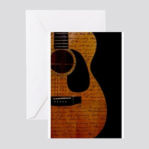 Acoustic guitar greeting cards cafepress greeting cards pk of 20 m4hsunfo