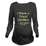 Great Garden Long Sleeve Maternity T-Shirt