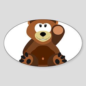 Teddy Bear (Brown) Sticker