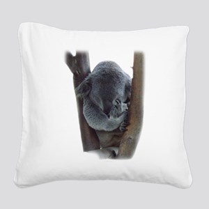 Koala front sleeping cut out Square Canvas Pillow