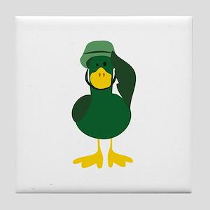 Salute Duck Tile Coaster