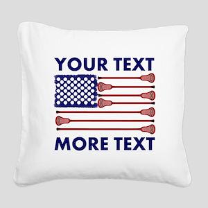Lacrosse AmericasGame Room Se Square Canvas Pillow
