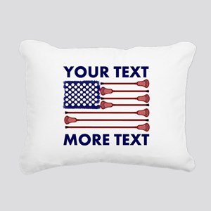 Lacrosse AmericasGame Ro Rectangular Canvas Pillow