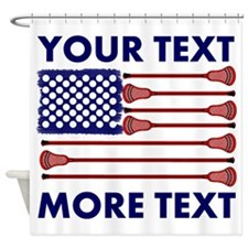 Lacrosse AmericasGame Room Set Shower Curtain