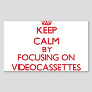 Keep Calm by focusing on Videocassettes Sticker