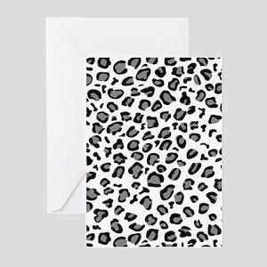 White Cheetah Greeting Cards