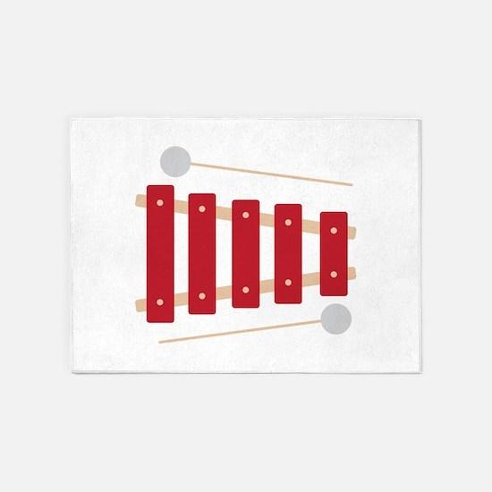 Xylophone 5'x7'Area Rug