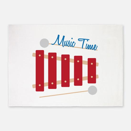 Music Time 5'x7'Area Rug