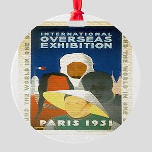 Paris Expo Round Ornament