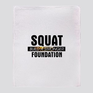 Workout Routine Throw Blanket