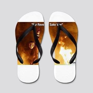 For Revenge Sake War Flip Flops