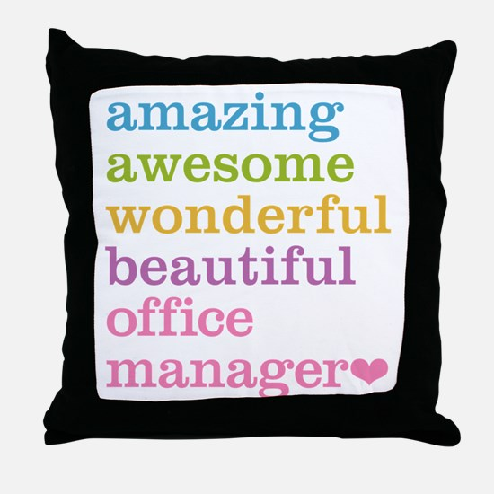 Office Manager Throw Pillow