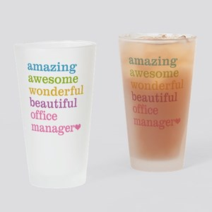 Office Manager Drinking Glass