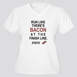 Will Run for Bacon Plus Size T-Shirt