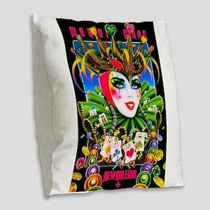 Image4-crazy-done Burlap Throw Pillow