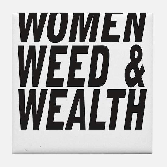 Women Weed & Wealth Tile Coaster