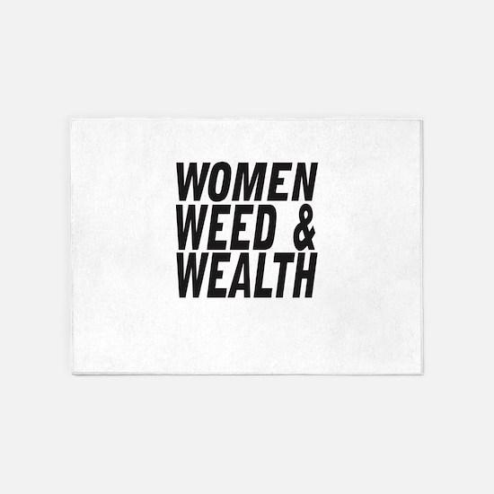 Women Weed & Wealth 5'x7'Area Rug