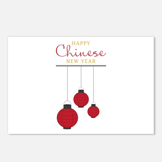 Chinese New Year Postcards (Package of 8)