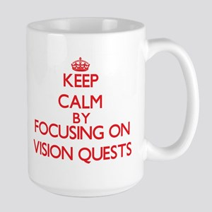 Keep Calm by focusing on Vision Quests Mugs
