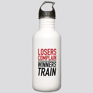 Losers Complain Winners Train Stainless Water Bott