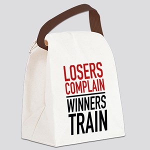 Losers Complain Winners Train Canvas Lunch Bag