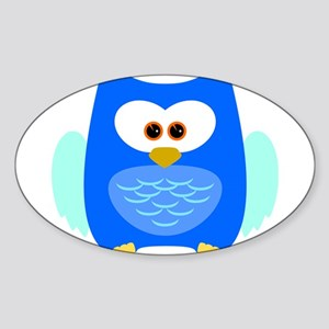 Owl (Blue) Sticker
