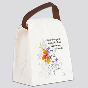 yoga147 Canvas Lunch Bag