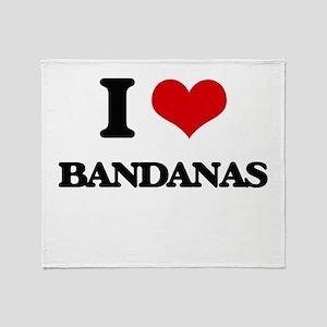 I Love Bandanas Throw Blanket