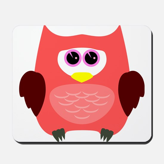 Owl (Red) Mousepad