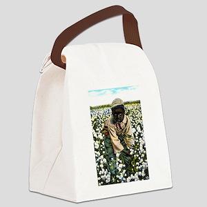 Cotton Picker Canvas Lunch Bag