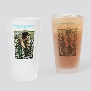 Cotton Picker Drinking Glass