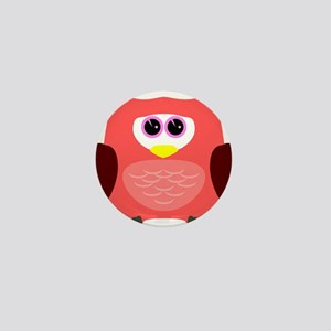 Owl (Red) Mini Button