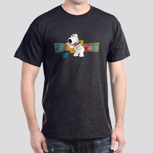 Family Guy Brian Martini Dark T-Shirt